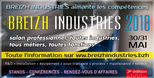 Salon Professionnel Breizh Industries  du 30 au 31 Mai 2018 - Atlantic Robinetterie