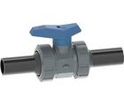 Vanne à bille type 542 ecoFIT PVC-U/PE Pour les applications d'eau Avec embouts mâles longs pour soudage bout à bout (métrique) PE100 - SDR11