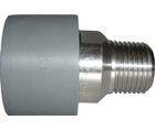 Raccord d'adaptation PVC-U/acier inoxydable mâle conique R GF