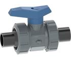 Vanne à bille type 542 ECOFIT PVC-U - PE Pour les applications d'eau Avec embouts mâles pour soudage bout à bout (métrique) PE100 - SDR11 GF