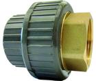 Manchons union d'adaptation PVC-U/laiton métrique Rp GF