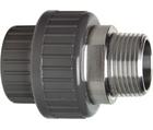 Manchons union d'adaptation, PVC-U/acier inox métrique - R GF