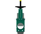 Vanne à guillotine standard – corps fonte – pelle inox 304 – commande par volant